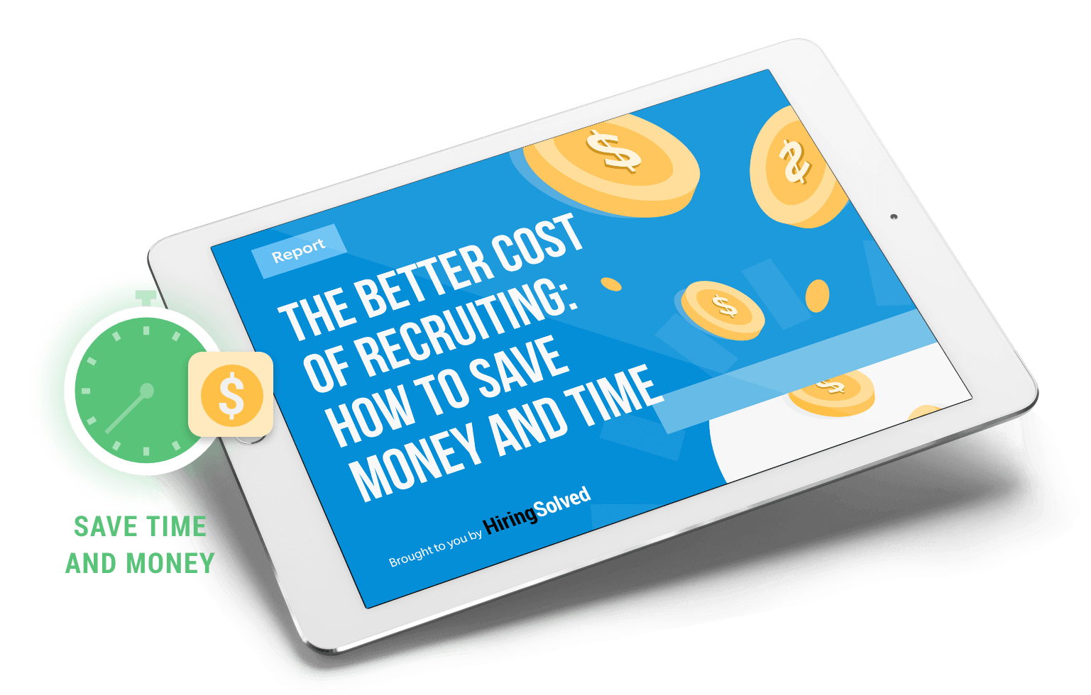 ipad with Better Cost of Recruiting text