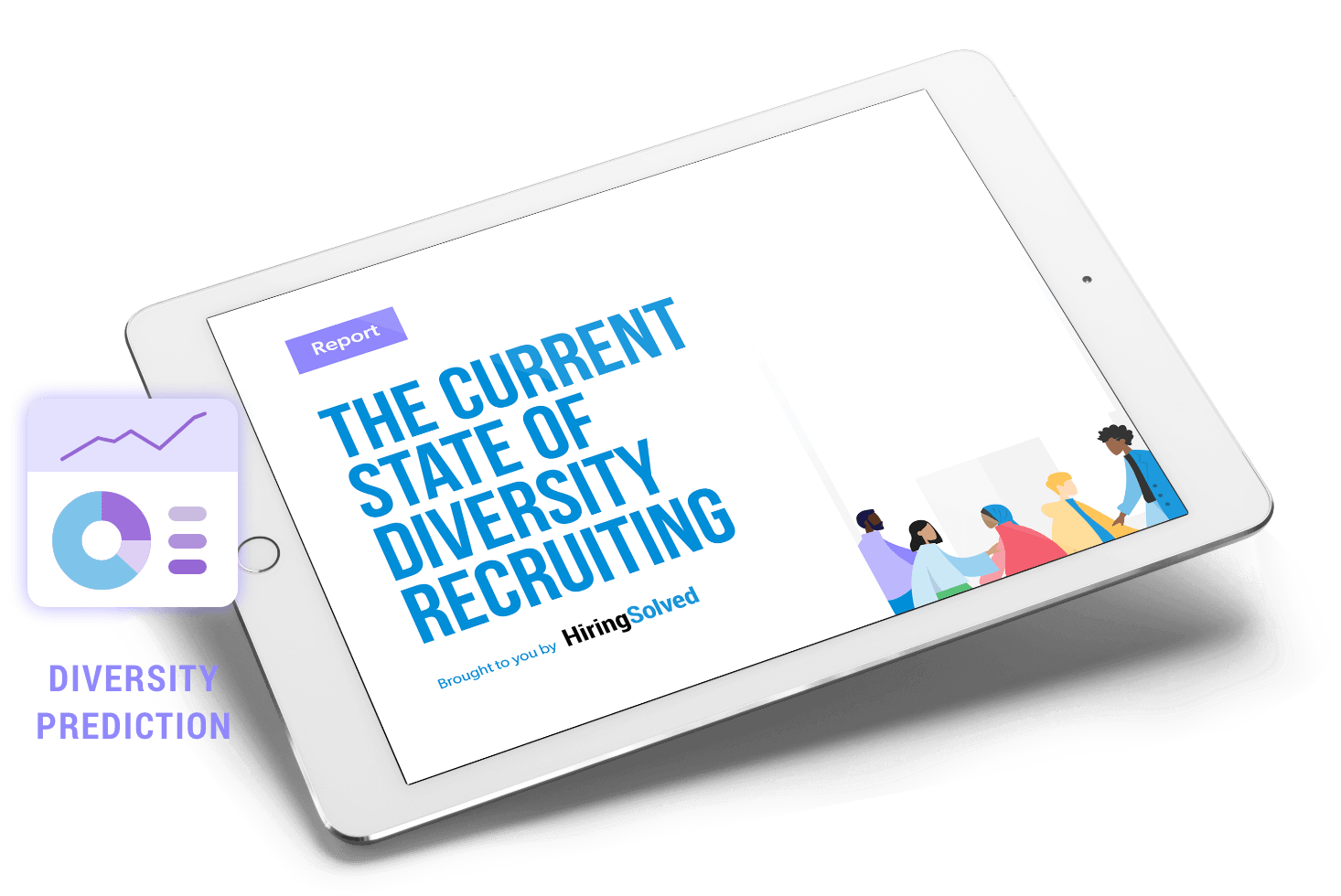 ipad with Diversity Recruiting text