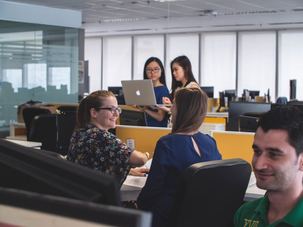 Image of people working in an office.