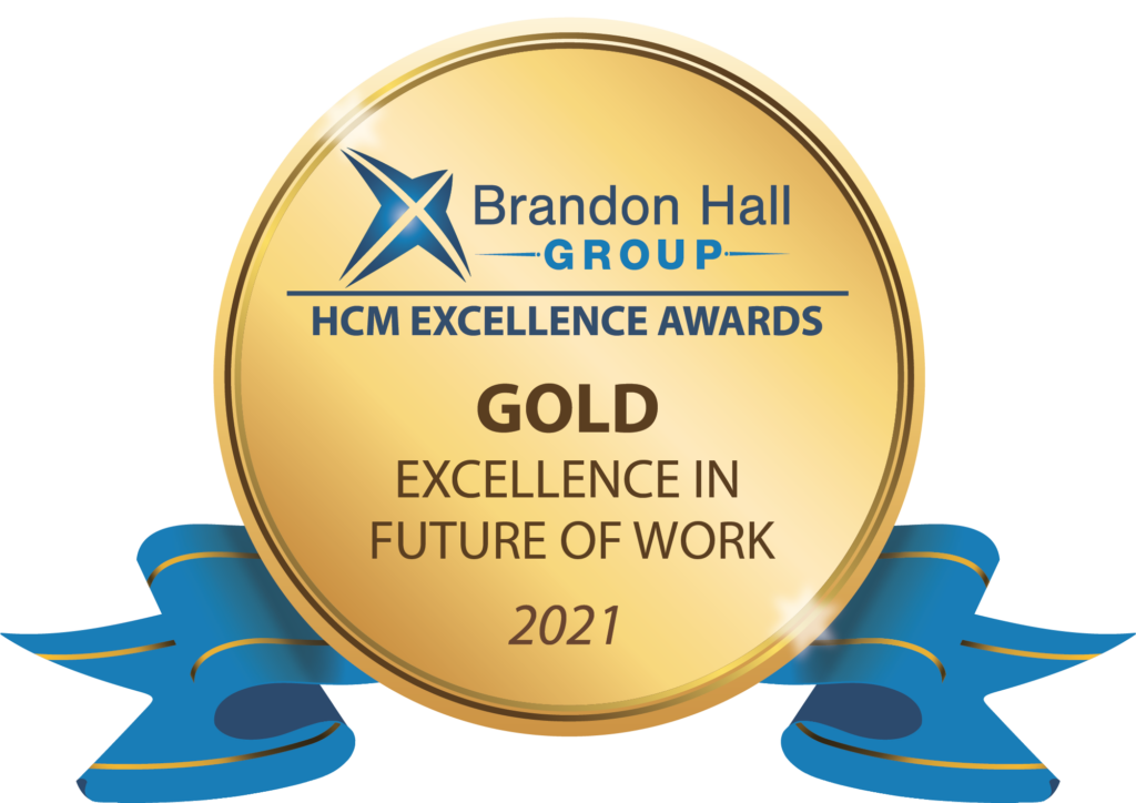 Brandon Hall Group Gold ribbon award for Excellence in Future of Work